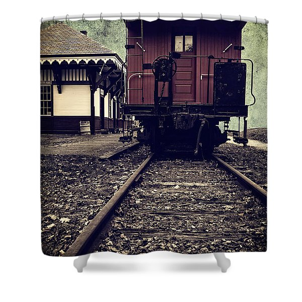 Other Side Of The Tracks Shower Curtain by Edward Fielding