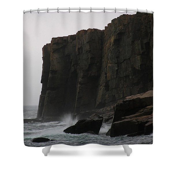 Otter Cliff Shower Curtain by Juergen Roth