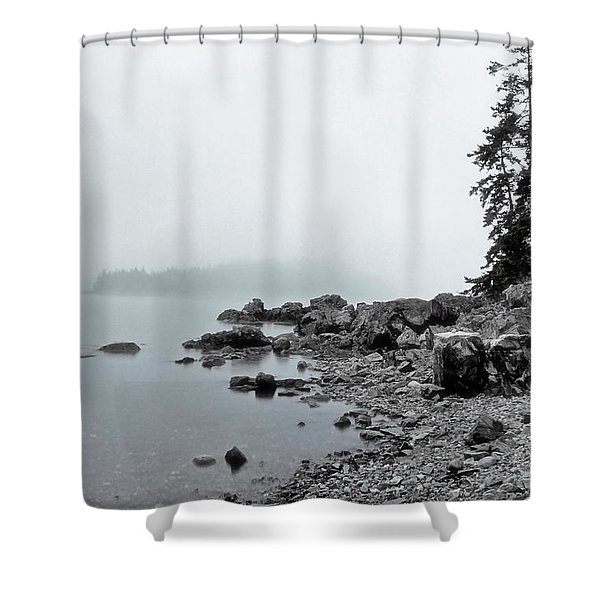 Otter Cliffs Shower Curtain by Joann Vitali