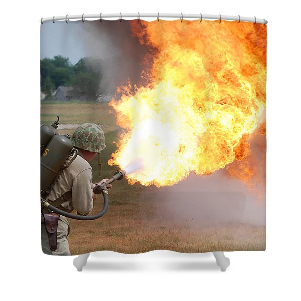 Ouch Shower Curtain by Thomas Woolworth