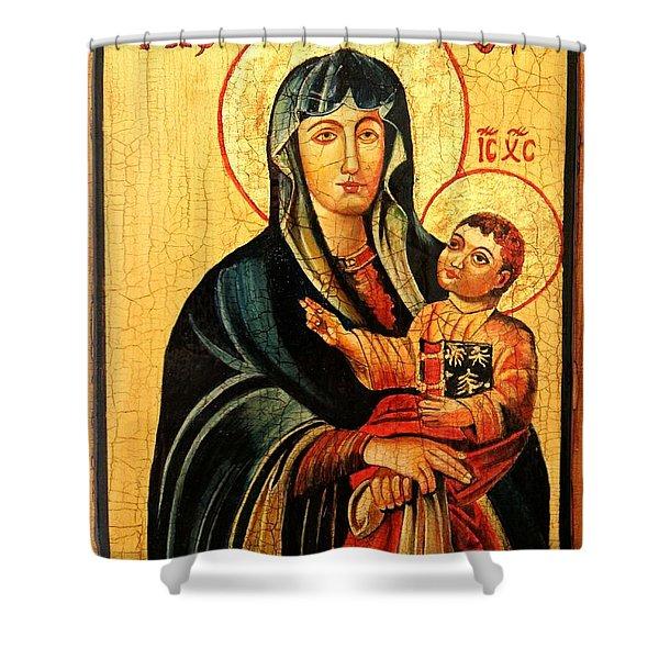 Our Lady Of Cieszyn Icon Shower Curtain by Ryszard Sleczka