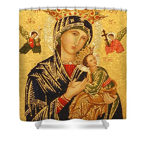 Our Lady of Perpetual Help  Shower Curtain by Philip Ralley