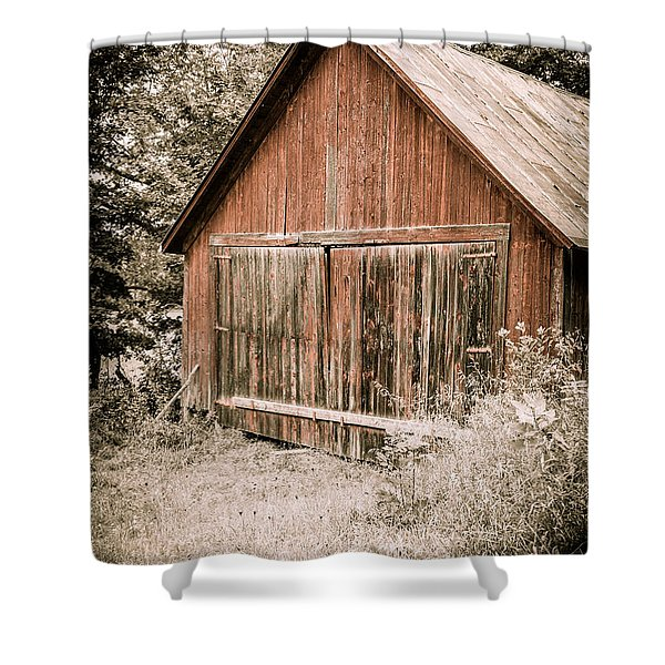 Out by the Woodshed Shower Curtain by Edward Fielding