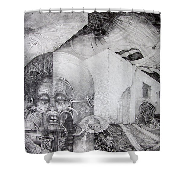 Outskirts Of Necropolis Shower Curtain by Otto Rapp