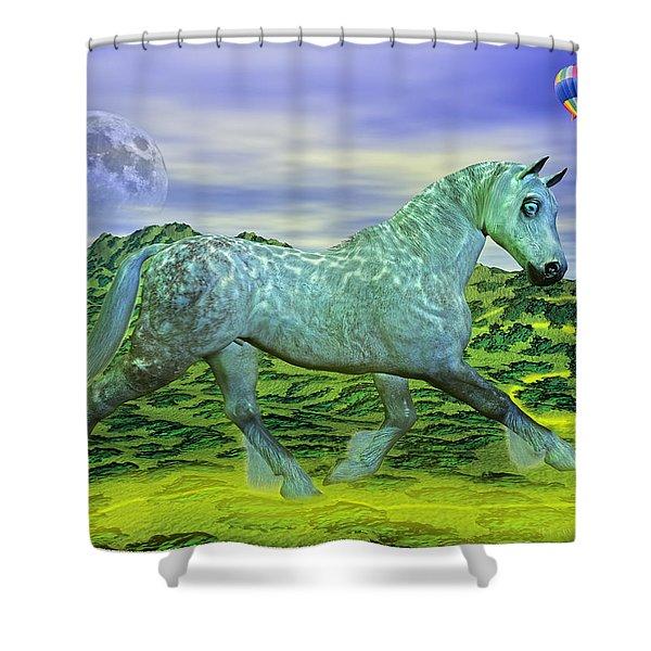 Over Oz's Rainbow Shower Curtain by Betsy C  Knapp