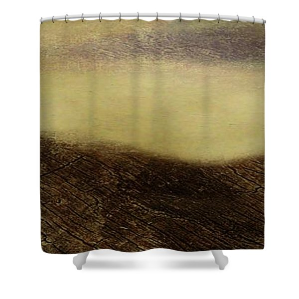 Over The Ridge Shower Curtain by Gina Lee Manley