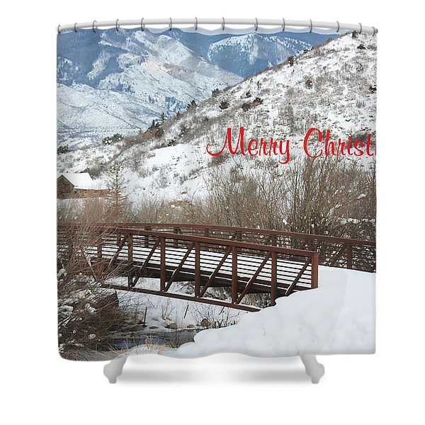 Over The River Shower Curtain by Kim Hojnacki