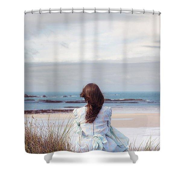 overlooking the sea Shower Curtain by Joana Kruse