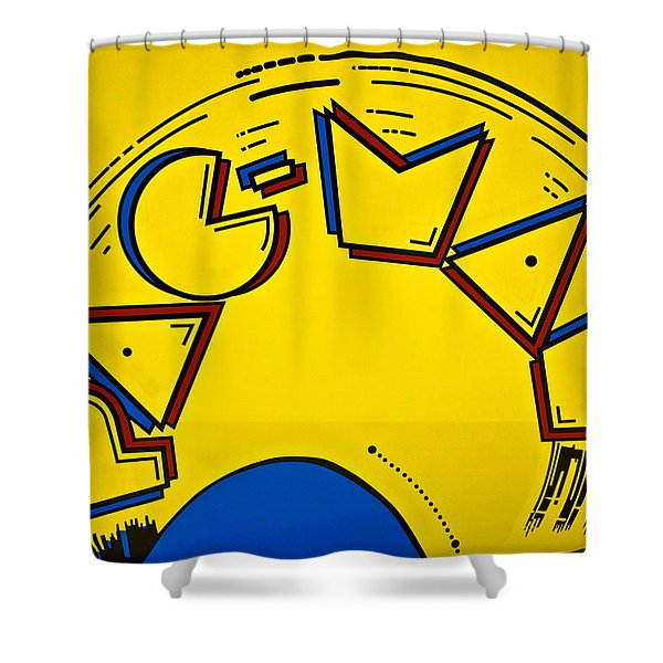 Pac-Man Shower Curtain by Frozen in Time Fine Art Photography