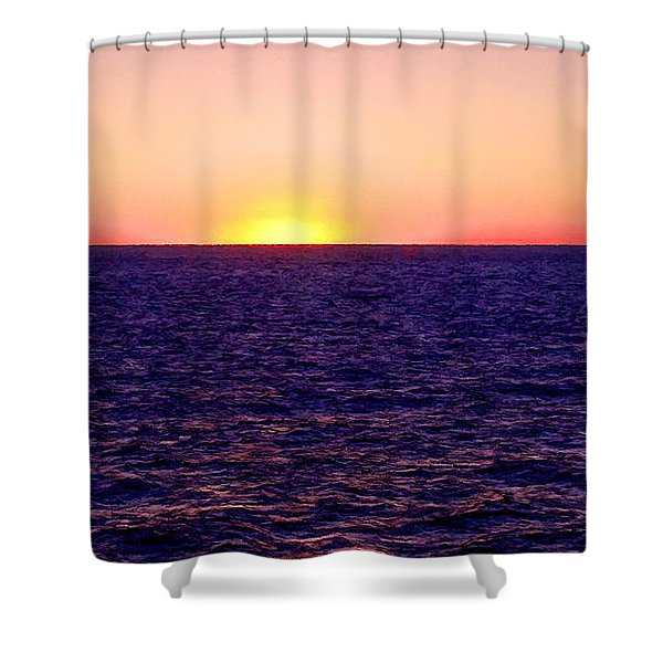 Pacific Sunset Off Laguna Beach Shower Curtain by Bob and Nadine Johnston