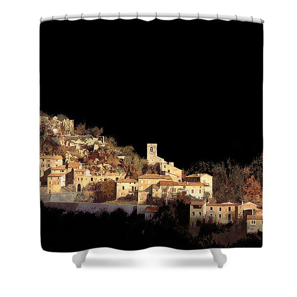 paesaggio scuro Shower Curtain by Guido Borelli