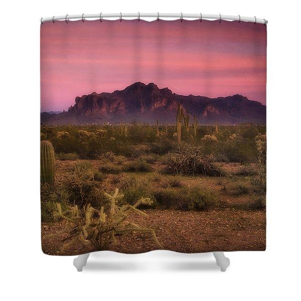 Paint it Pink Sunset  Shower Curtain by Saija  Lehtonen