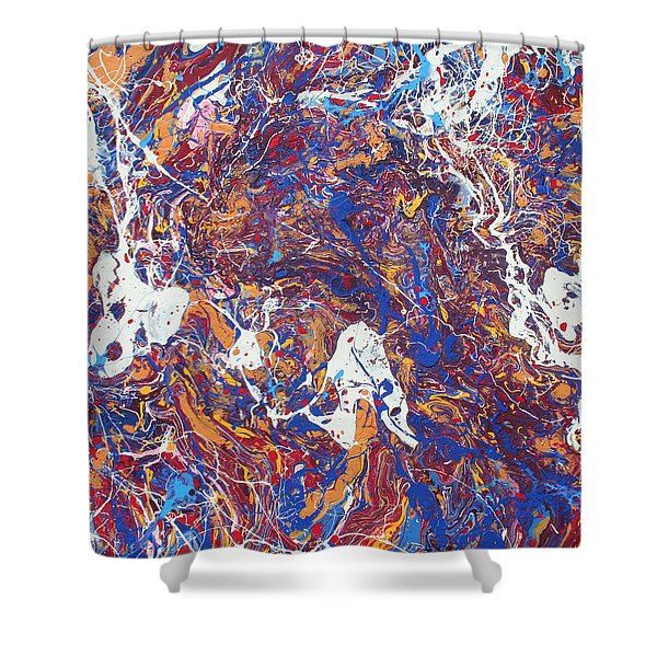 Paint Number Five Shower Curtain by Ric Bascobert