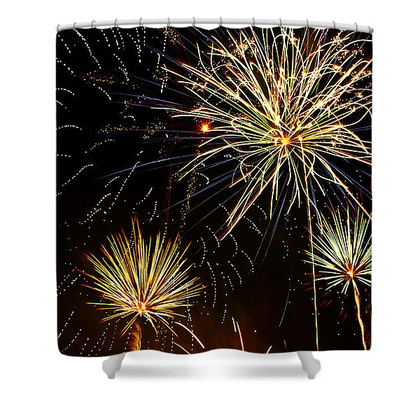 Paint the Sky with Fireworks  Shower Curtain by Saija  Lehtonen
