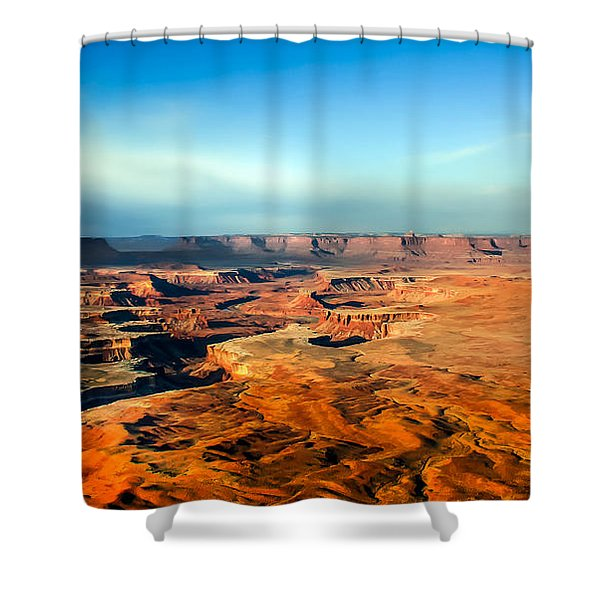 Painted Canyonland Shower Curtain by Robert Bales