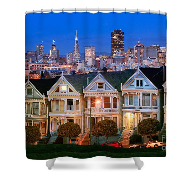 Painted Ladies Shower Curtain by Inge Johnsson
