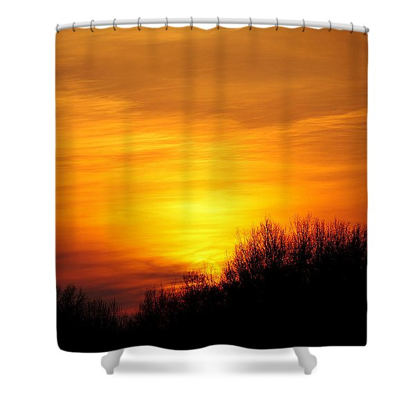 Painted Sky Shower Curtain by Frozen in Time Fine Art Photography