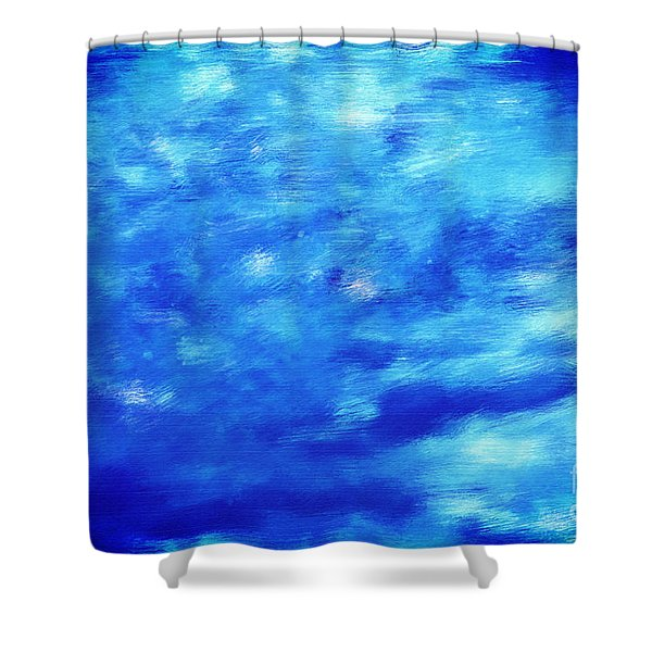 Painting Of Water Background Shower Curtain by Michal Bednarek