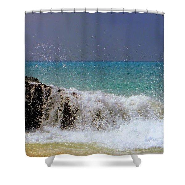 Palette of God Shower Curtain by KAREN WILES