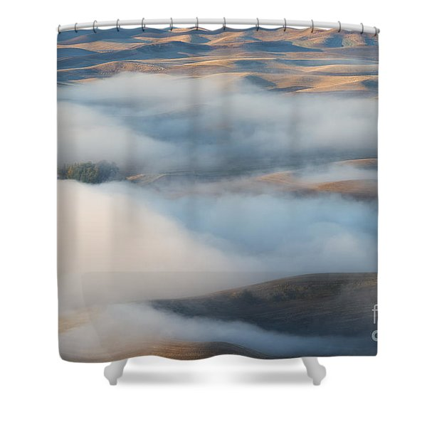 Palouse Morning Mist Shower Curtain by Mike  Dawson