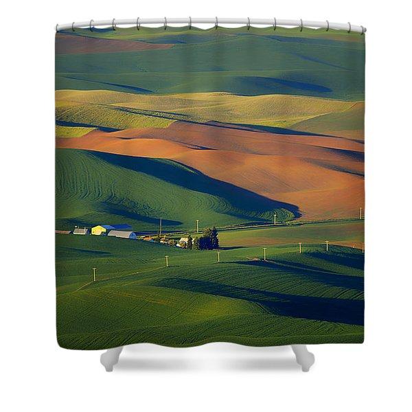 Palouse - Washington - Farms - #1 Shower Curtain by Nikolyn McDonald