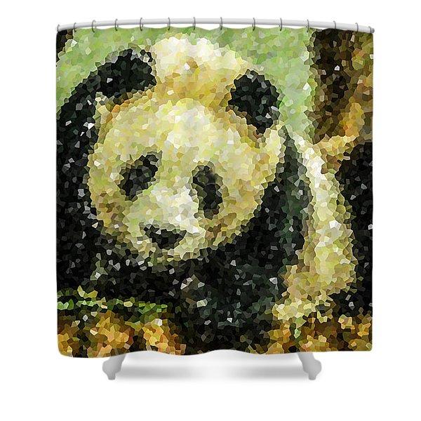Panda Shower Curtain by Lanjee Chee