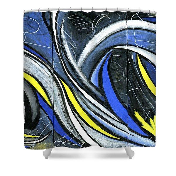 Pandemonium  Shower Curtain by Karyn Robinson