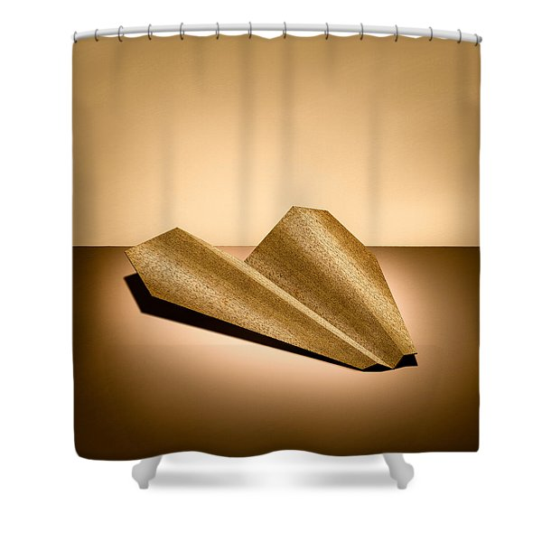 Paper Airplanes Of Wood 6 Shower Curtain by Yo Pedro