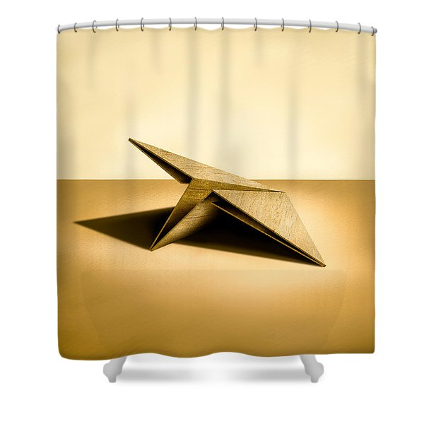 Paper Airplanes of Wood 7 Shower Curtain by Yo Pedro