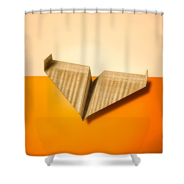 Paper Airplanes Of Wood 8 Shower Curtain by Yo Pedro