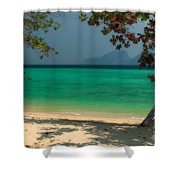 Paradise Found Shower Curtain by Adrian Evans