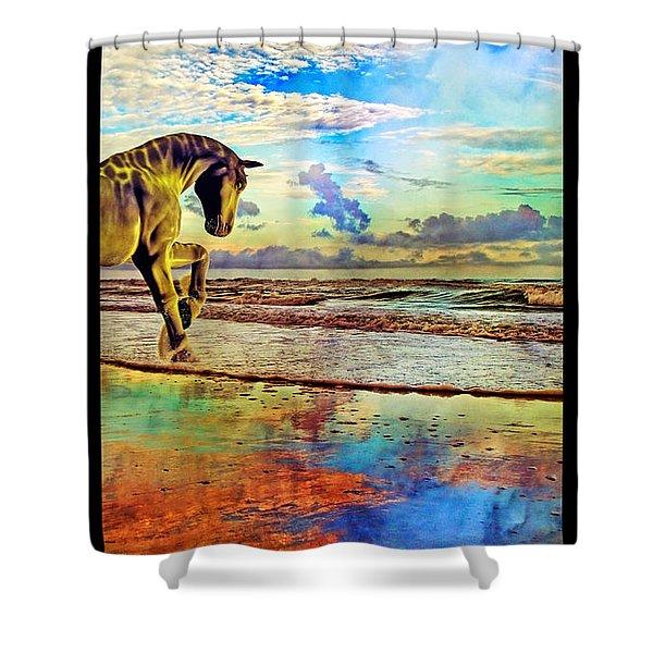Paradise Sunset Shower Curtain by Betsy C  Knapp
