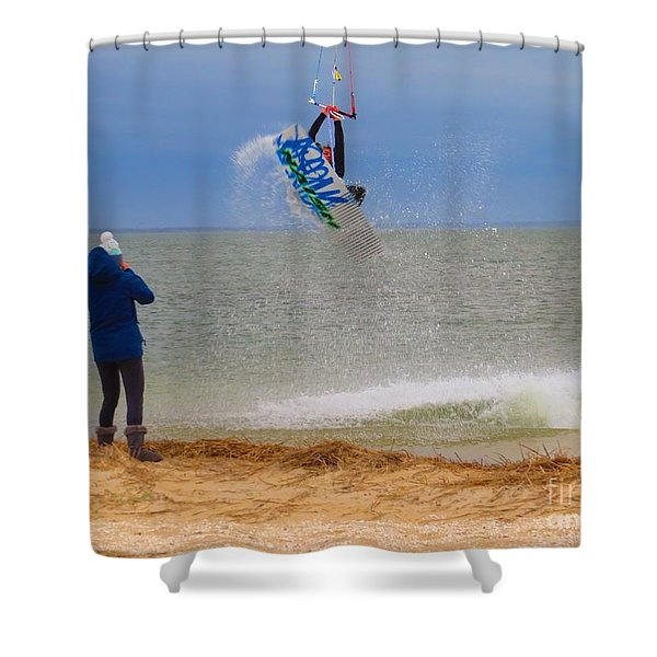 Parasurfer1 Shower Curtain by Rrrose Pix