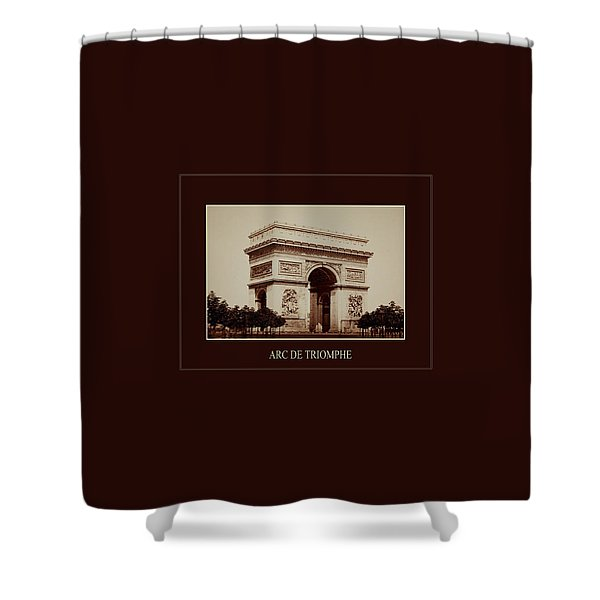 Paris Landmarks 2 Shower Curtain by Andrew Fare