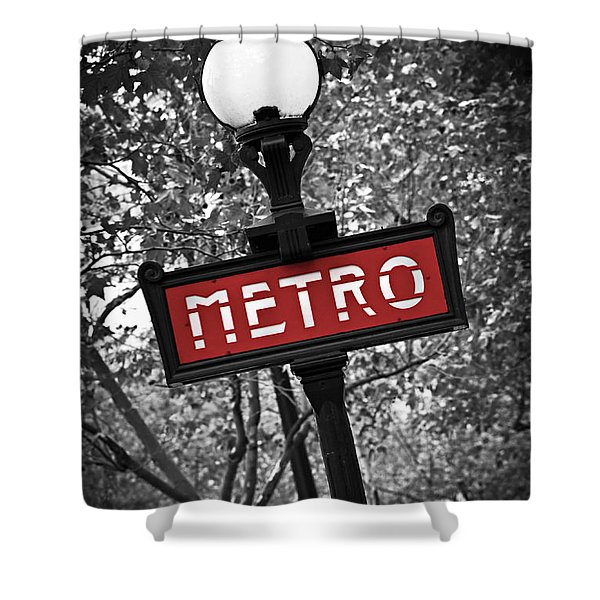 Paris metro Shower Curtain by Elena Elisseeva