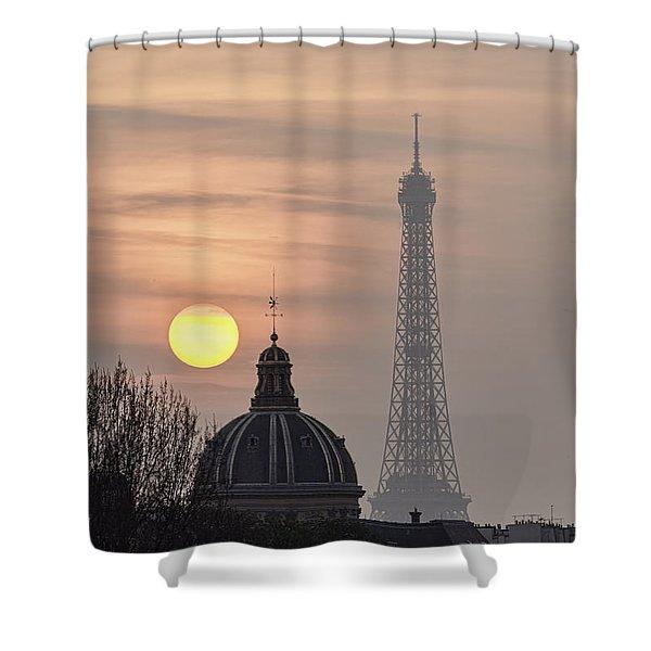 Paris Sunset I Shower Curtain by Mark Harrington