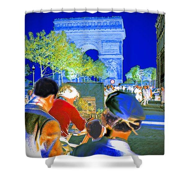 Parisian Artist Shower Curtain by Chuck Staley