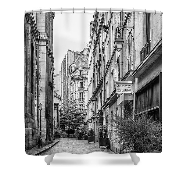 Parisian Street Shower Curtain by Nomad Art And  Design