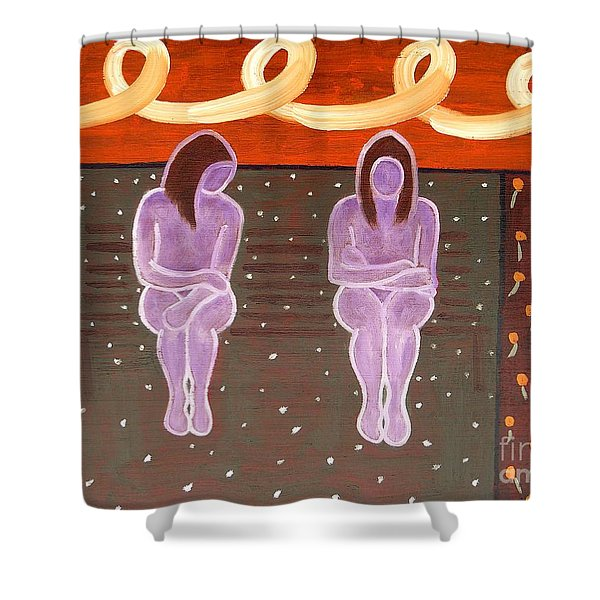 PARK BENCH Shower Curtain by Patrick J Murphy