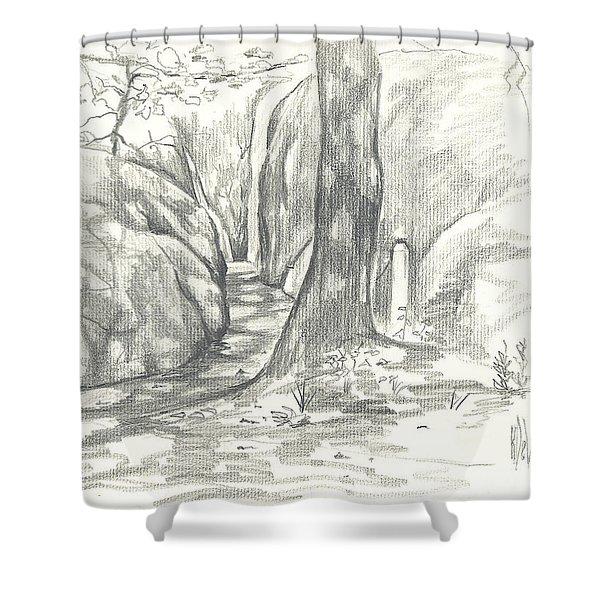 Passageway at Elephant Rocks Shower Curtain by Kip DeVore