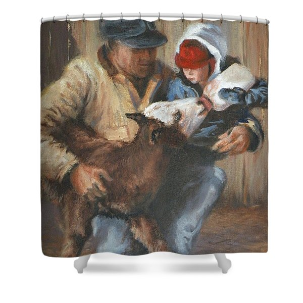 Passing The Torch Shower Curtain by Mia DeLode