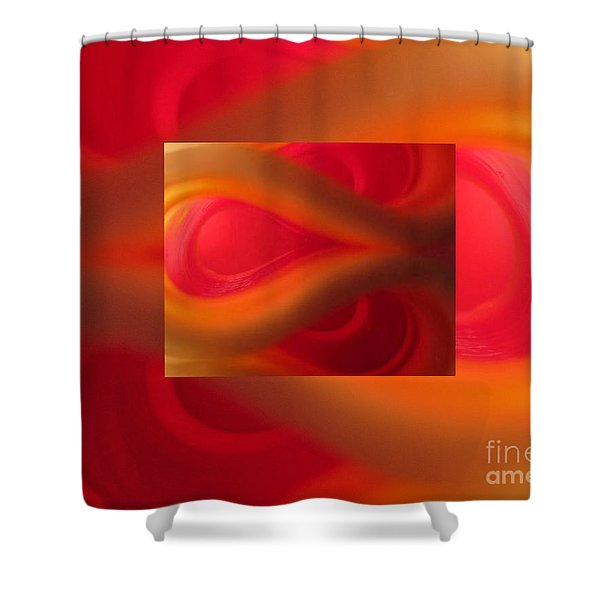 Passion Abstract 02 Shower Curtain by Ausra Paulauskaite