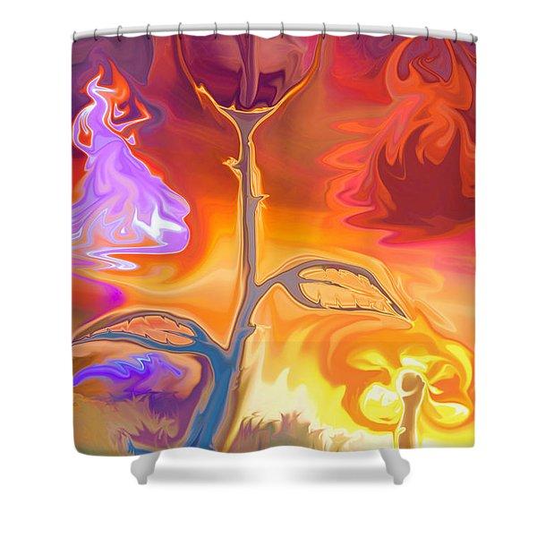 Passion Shower Curtain by Sotiris Filippou