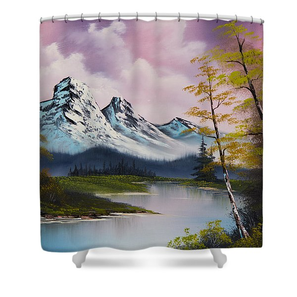 Pastel Fall Shower Curtain by C Steele