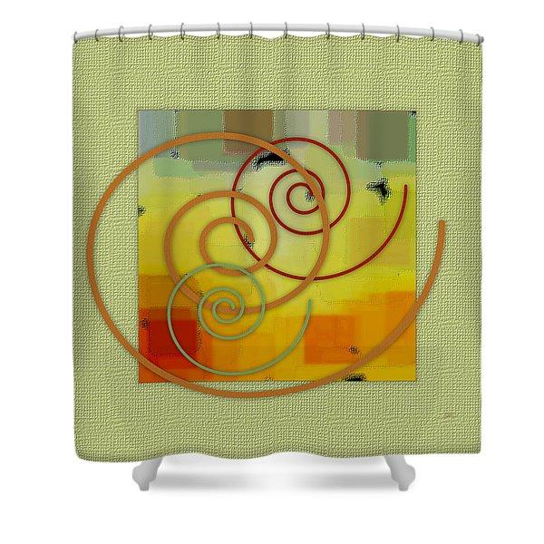Patchwork I Shower Curtain by Ben and Raisa Gertsberg
