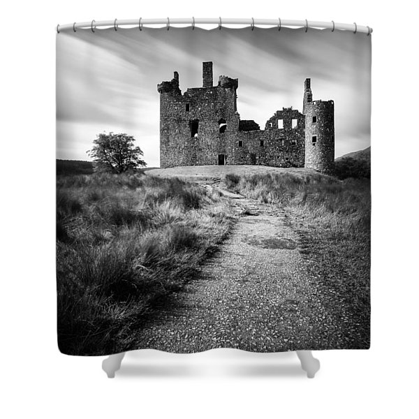 Path to Kilchurn Castle Shower Curtain by Dave Bowman