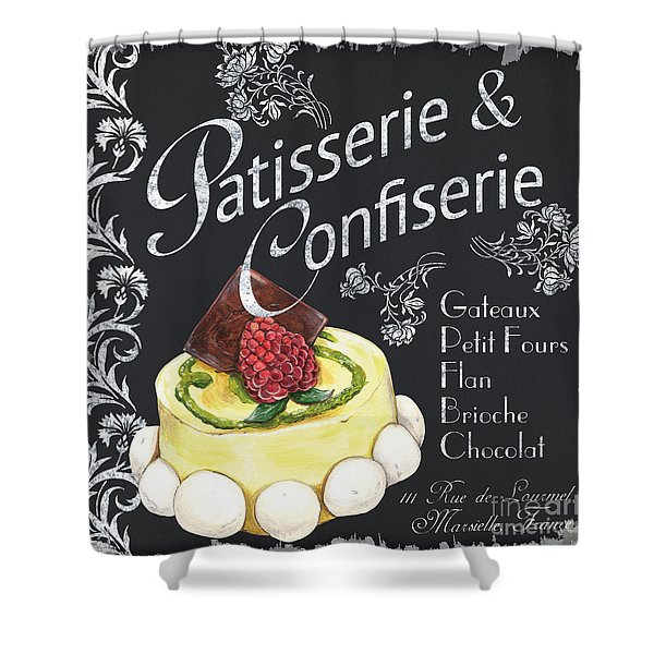 Patisserie and Confiserie Shower Curtain by Debbie DeWitt