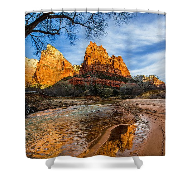 Patriarchs Of Zion Shower Curtain by Chad Dutson