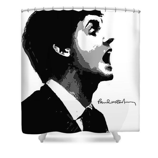 Paul McCartney No.01 Shower Curtain by Caio Caldas
