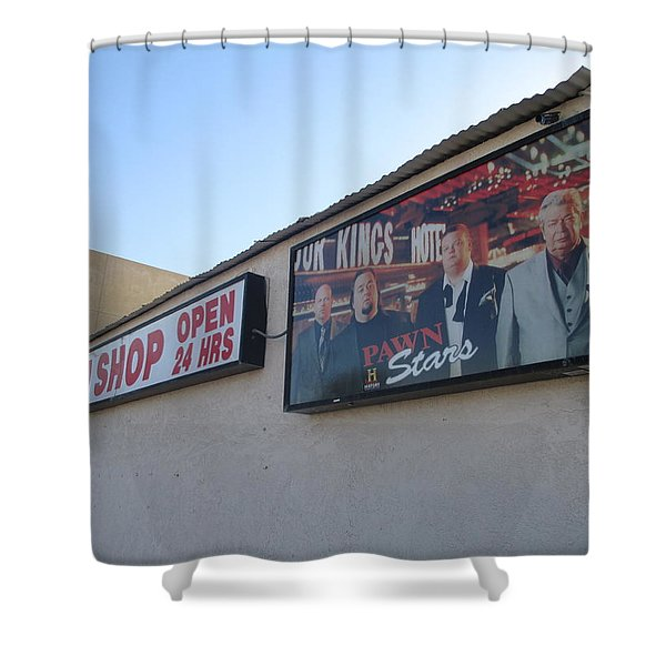 Pawn Stars Shower Curtain by Kay Novy